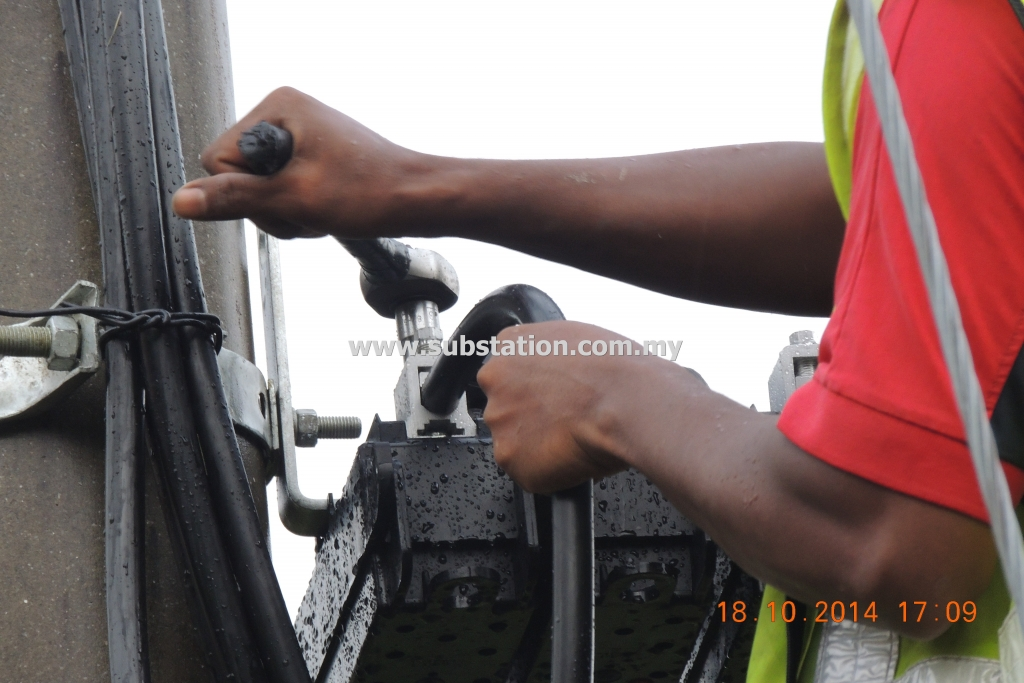 Termination of Cable into 400A Black Box